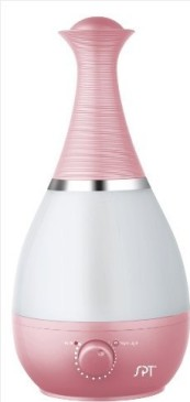 SPT SU-2550P Ultrasonic Humidifier with Fragrance Diffuser, Pink