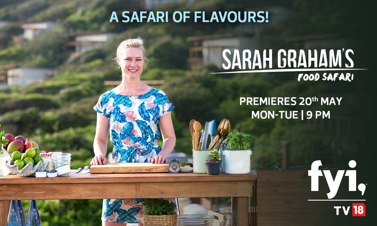 Sarah Graham's Food Safari Key Visual