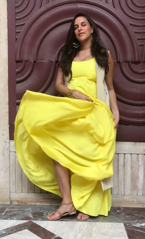 Neha Dhupia wearing Varnika Arora (3)