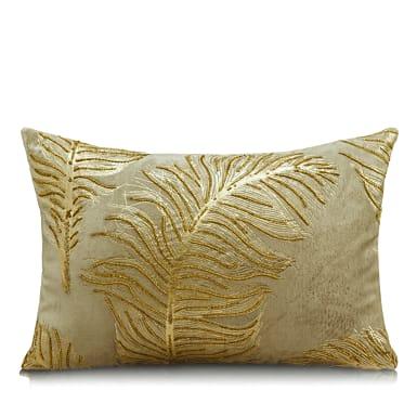 plumero-gold-foil-beadwork-beige-cotton-cushion-rs-1800