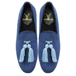 blue-velvet-slip-on-shoes-with-stylish-tassel-by-bareskin