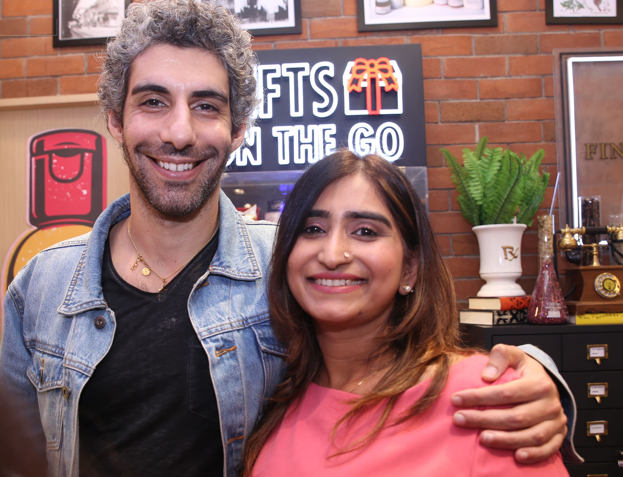 Jim Sarbh with Shikhee AGrawal @kiehl's India