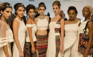Models in Archana Kochhar's creation at NYFW SS2017