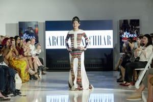 Acid Attack Victom Reshma Qureshi walking the ramp for Designer Archana Kochhar at NYFW SS17