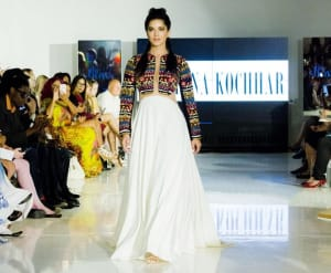 Actress Sunny Leone walking the ramp for Designer Archana Kochhar at NYFW SS17