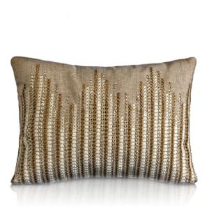 Flecha Greige Emb. Cushion Rs.1800
