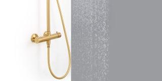 messing bruser Messing og guld i badeværelset og køkke| vandhane, vask m.m. messing bruser