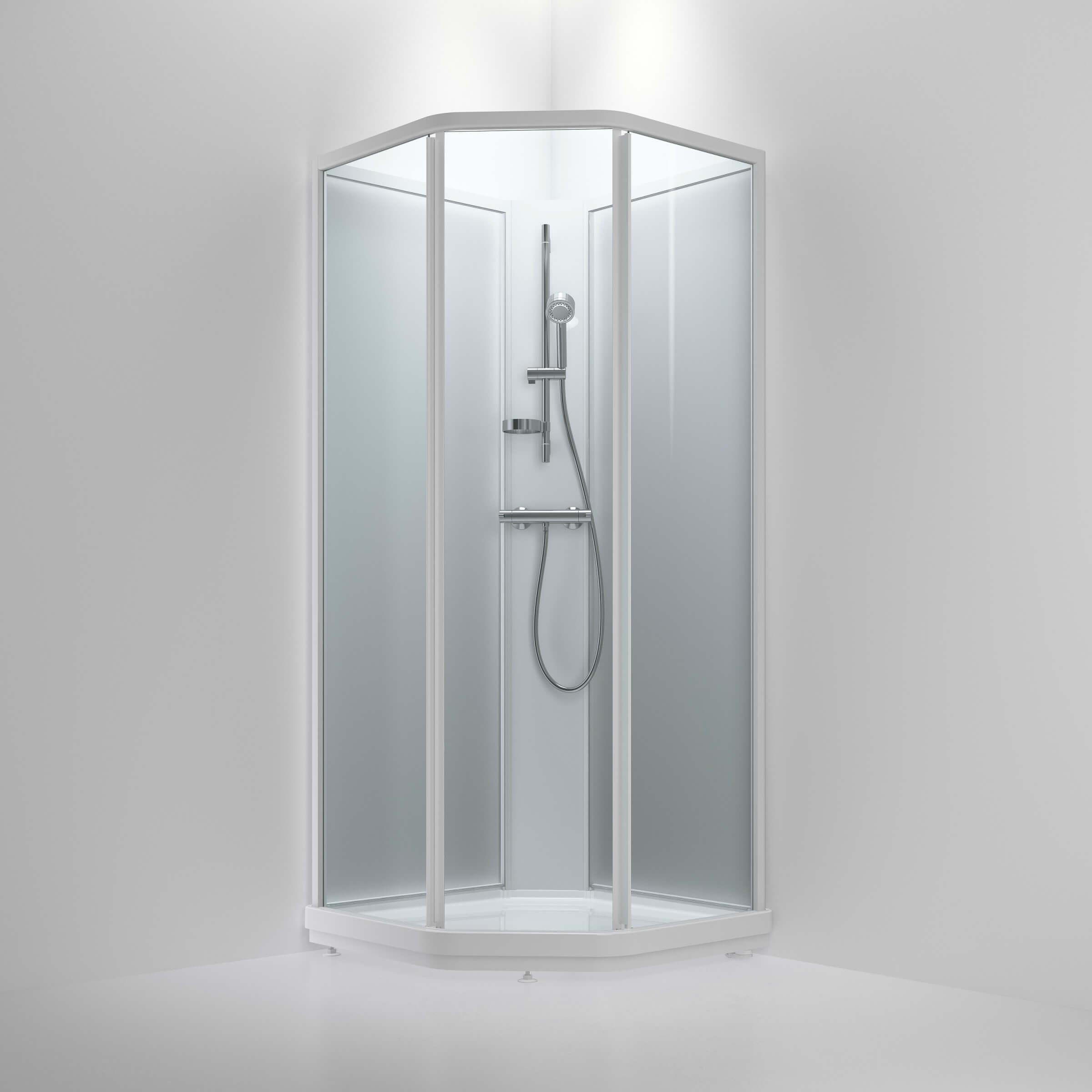 Superbly Bruseløsninger til badeværelset - Guide til brusekabiner NS11
