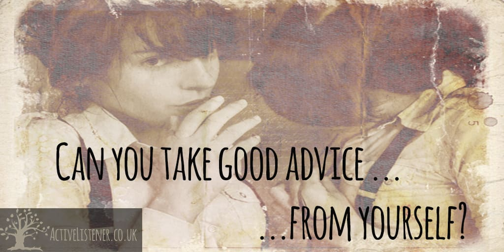 Can you take advice from yourself?