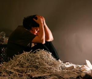Girl feeling depressed and feeling ovewhelmed