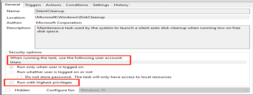 Bypassing UAC on Windows 10 using Disk Cleanup