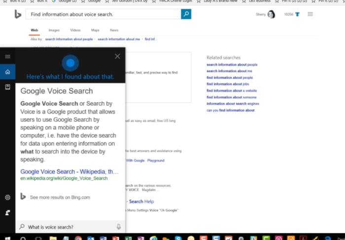 ricerca vocale Microsoft