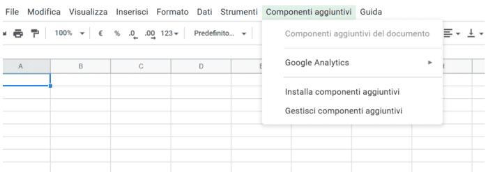 Installazione di componenti aggiuntivi su Google Data Studio