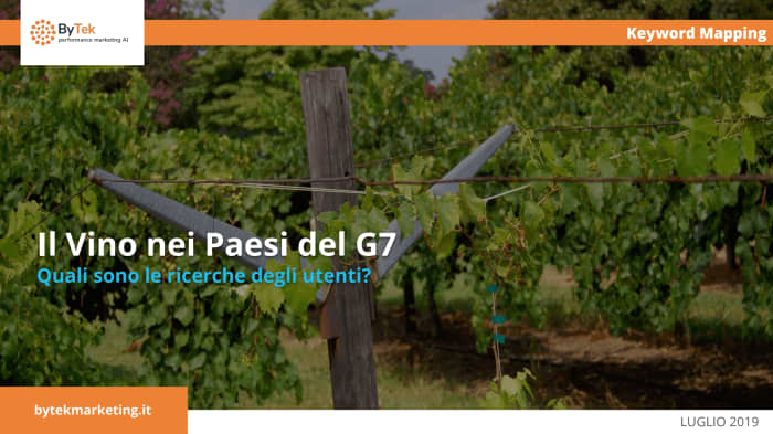 Il vino nei Paesi del G7: cosa cercano gli utenti?