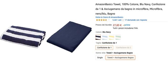 Amazon basics asciugamano