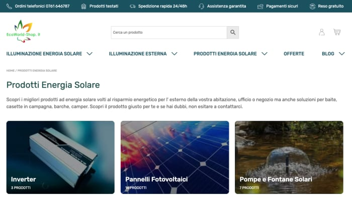 Ecoworld Shop: una nuova esperienza e-commerce