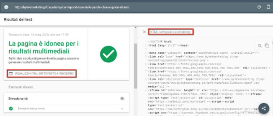 visualizza html