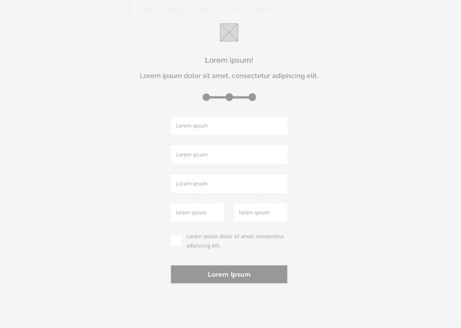 Esempio Pagina Registrazione Template