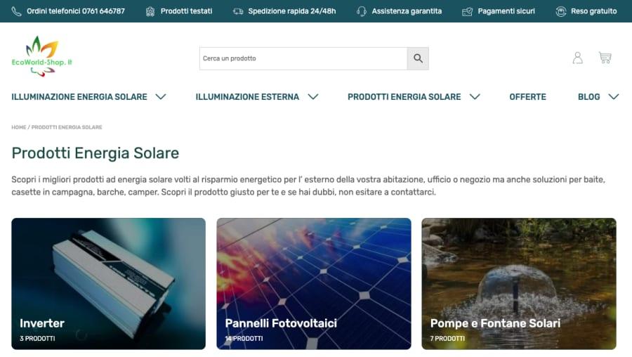 Ecoworld Shop: una nuova esperienza e-commerce