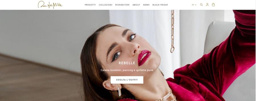 Rue del Mille: web marketing per gioielli italiani