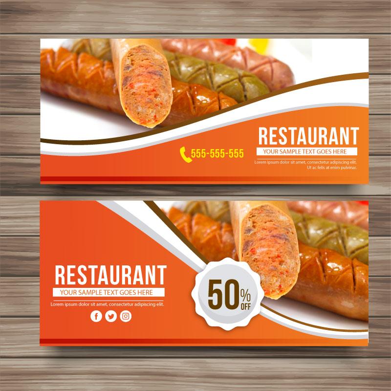 restaurant banner bb156 bk designs