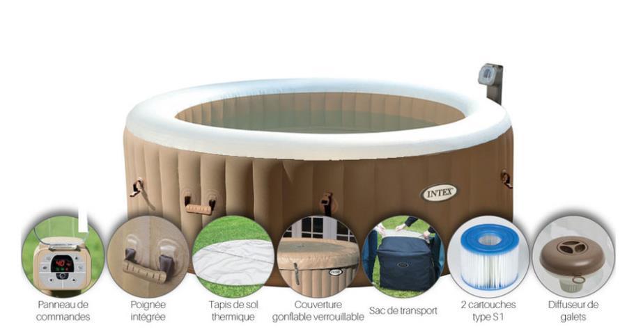 Spa Gonflable Intex Pure Spa Bulles 6 Places C Est En Vitrine