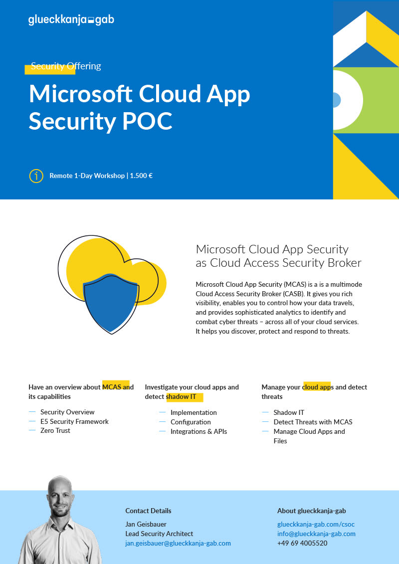 Microsoft Cloud App Security POC