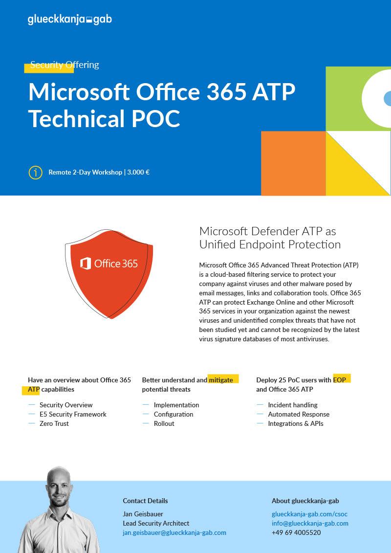 Microsoft Office 365 ATP Technical POC