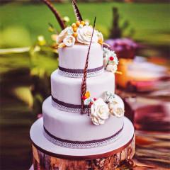 Hochzeitstorte 3-stöckig flieder
