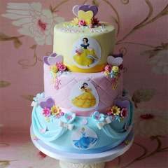 Prinzessinen Geburtstagstorte