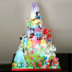 Motivtorte sechsstöckig - Disney