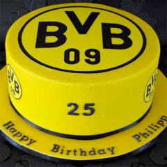 Borussia Dortmund - Fussballtorte
