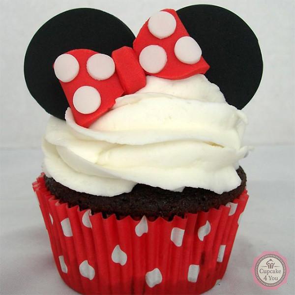 Minnie Maus Cupcake - Kindergeburtstagstorten