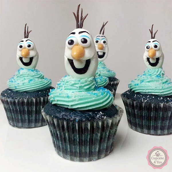 Motivcupcakes - aus dem Film Anna und Elsa - Cupcakes