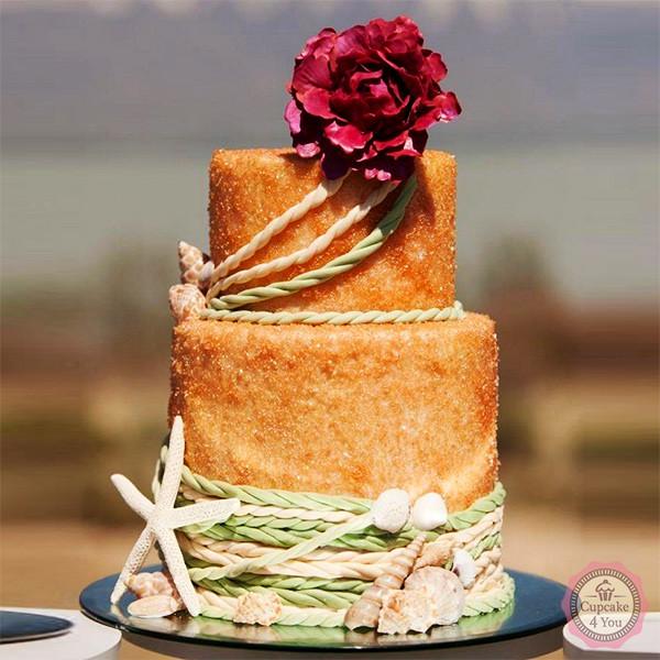 Hochzeitstorte 2-stöckig Seestern - Kuchen - Torten