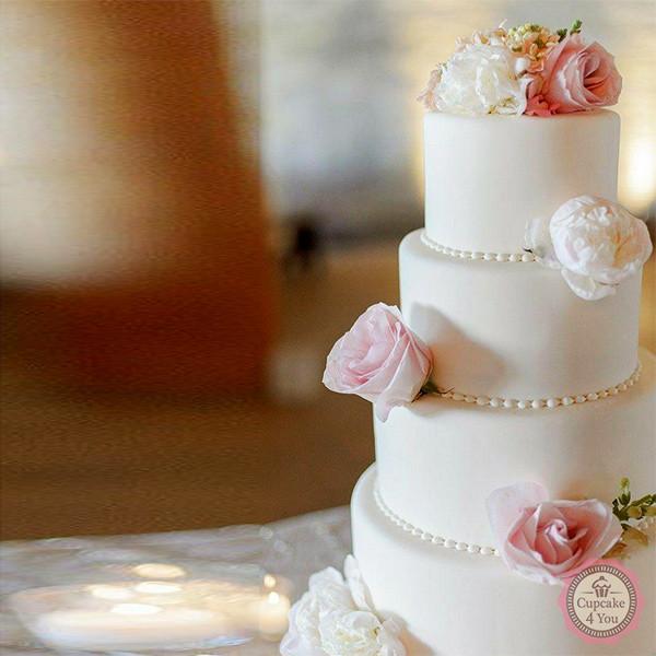 Hochzeitstorte 4-stöckig *klassisch* - Hochzeitstorten