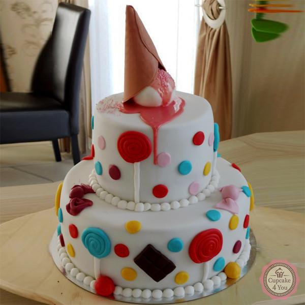 Motivtorte zweistöckig - Candy - Geburtstagstorten