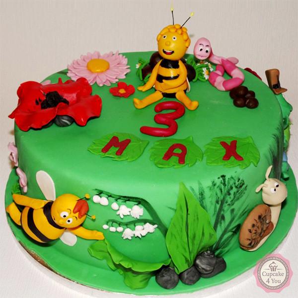Motivtorte einstöckig - Biene Maja - Kindergeburtstagstorten
