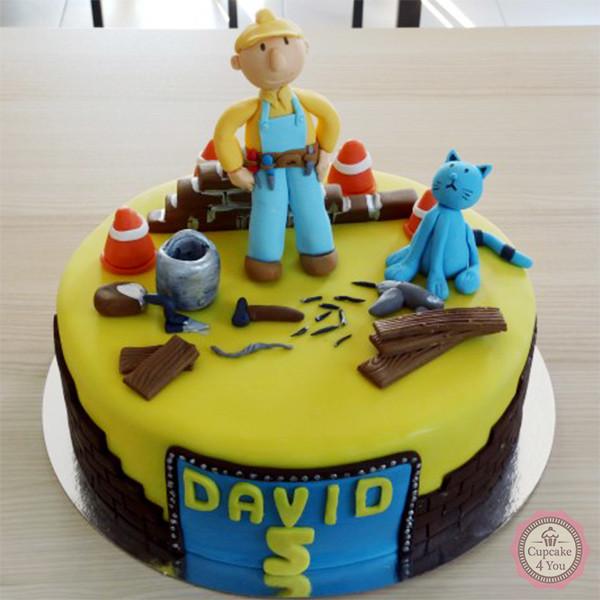 Motivtorte einstöckig - Baustelle - Children Cakes