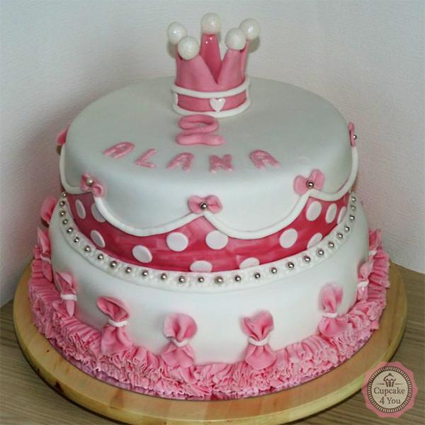 Motivorte zweistöckig - Prinzessin rosa - Kindergeburtstagstorten