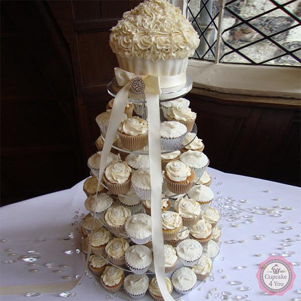 Hochzeitstorte Einstockig Big Cupcake Cupcake4you