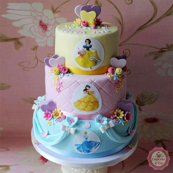 Prinzessinen Geburtstagstorte - Kuchen - Torten