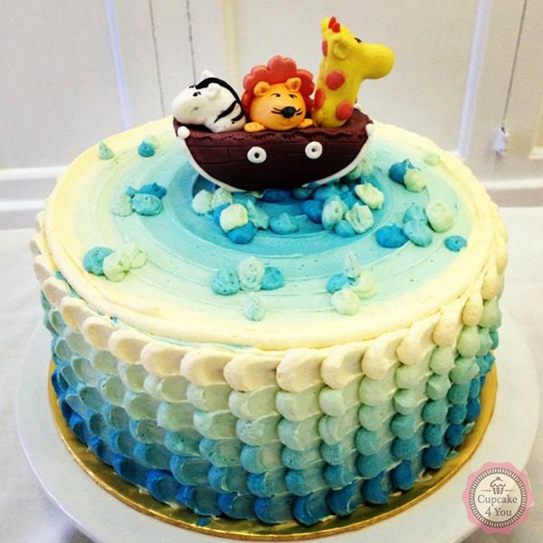 Motivtorte einstöckig Icing Cake - Arche Noah - Kindergeburtstagstorten