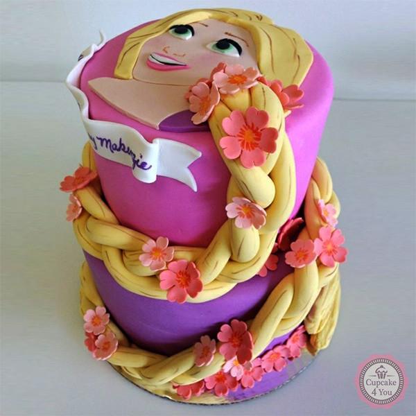 Motivtorte zweistöckig - Rapunzel - Kindergeburtstagstorten