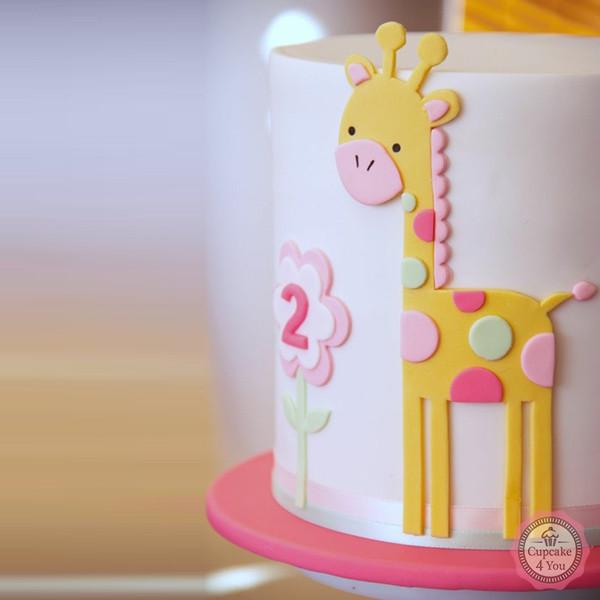 Motivtorte einstöckig - Giraffe - Kindergeburtstagstorten