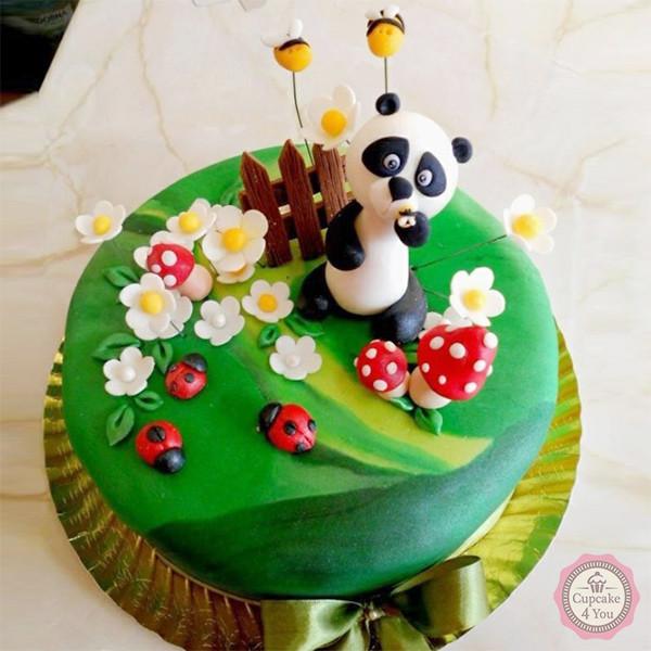 Motivtorte einstöckig - Panda - Kindergeburtstagstorten