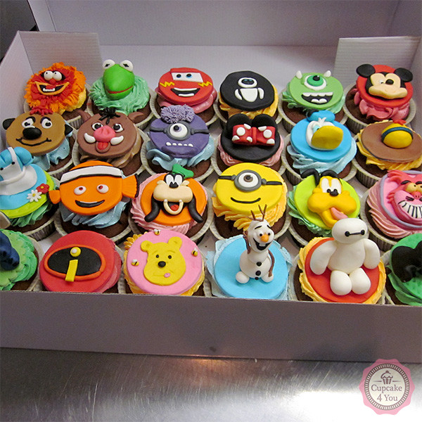 kindergeburtstag cupcakes walt disney