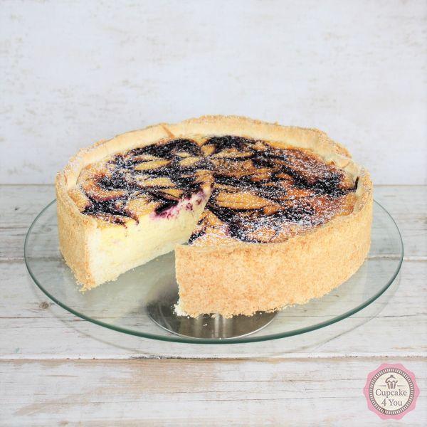 Glutenfreier Käsekuchen mit Blaubeer-Swirl - Kuchen/Torten