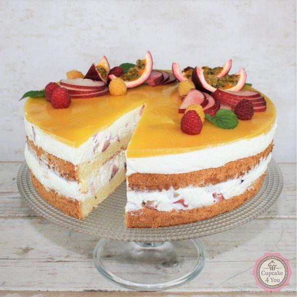 Pfirsich-Maraquja Torte - Kuchen/Torten