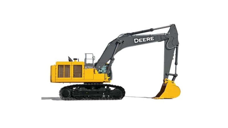 John Deere 670g Lc Large Excavator Warrior Tractor Equipment